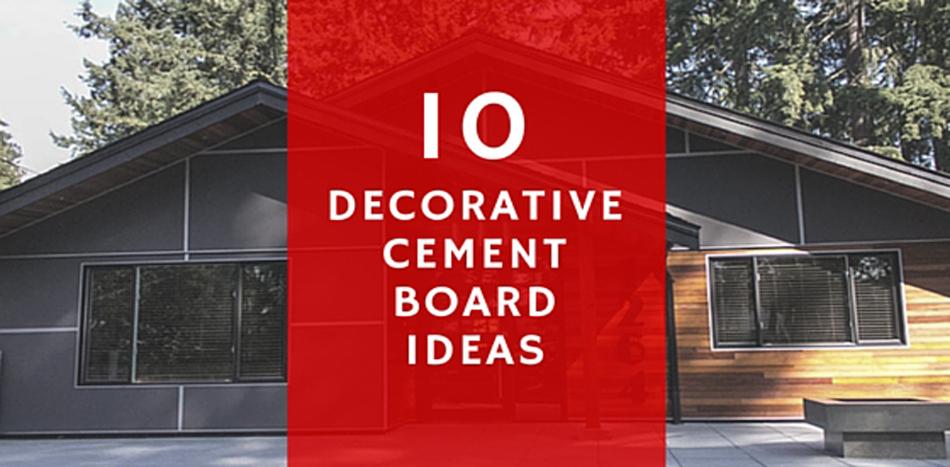 Decorative 20 Cement 20 Board 20 Ideas
