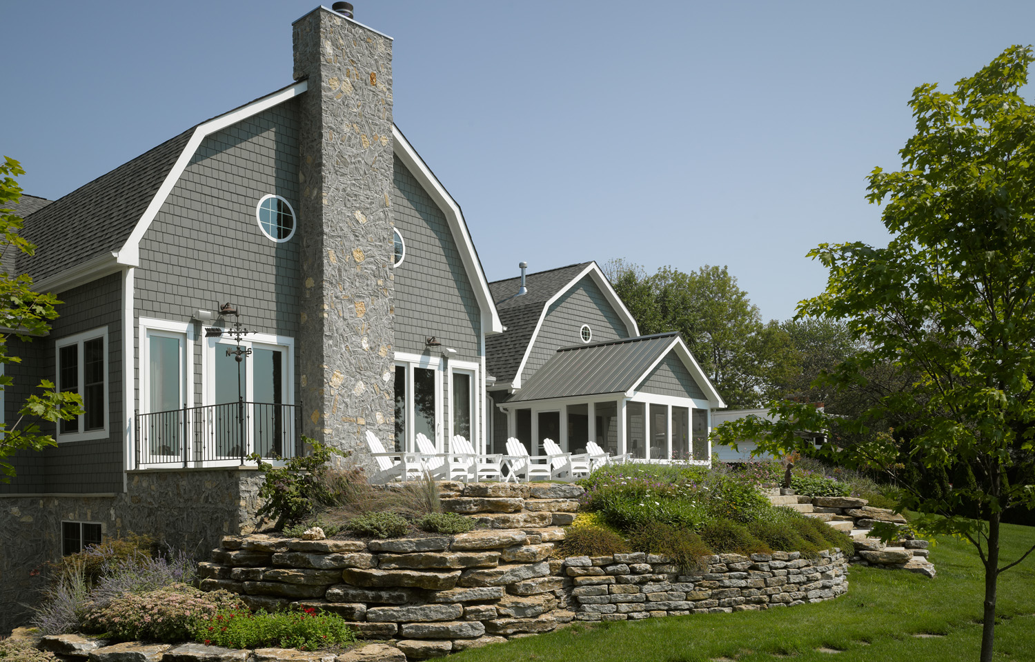 Gray Houses with White Trim 1