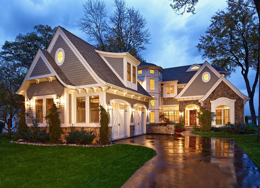 Lovely Home Exterior Stone Design Ideas Part - 11: 13. Shingled Out For Perfection