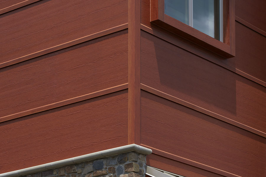 Faux cedar siding design options for Wood look siding