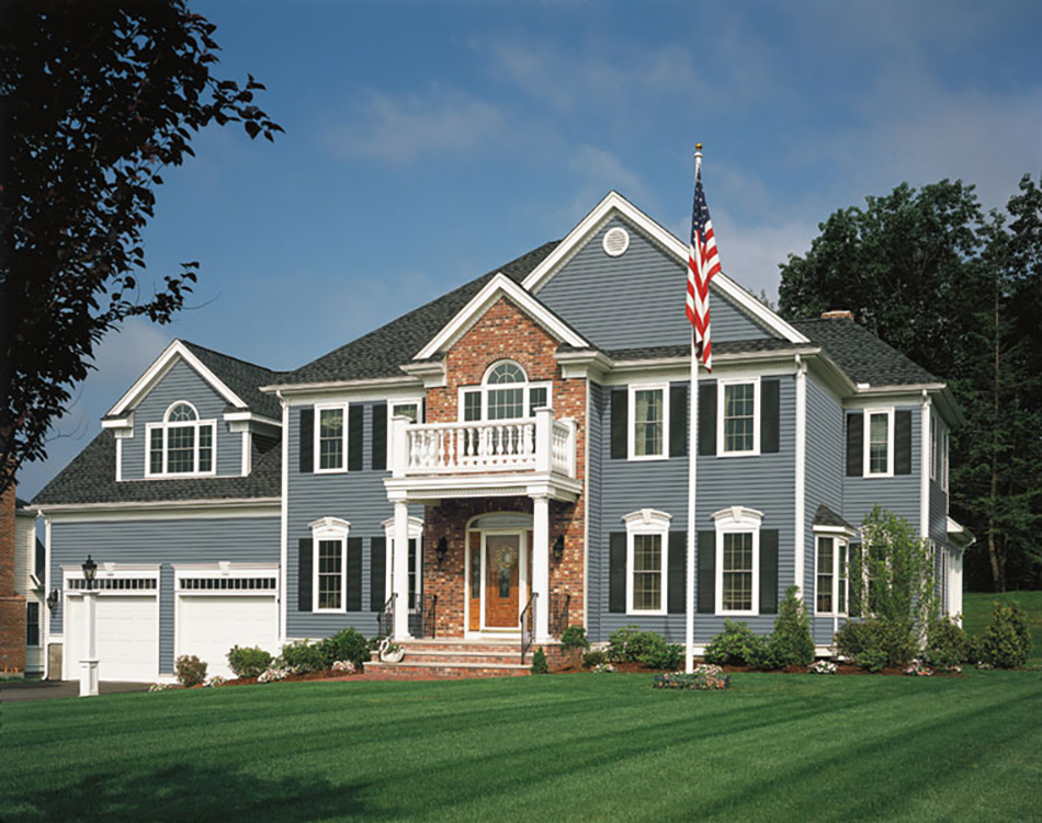 7 blue house siding ideas allura usa for Blue siding house