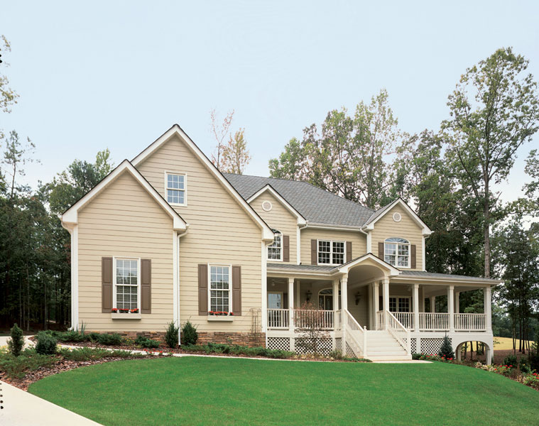 you dont need a lot of fancy siding or decorative options to create an appealing home exterior this home uses a tone on tone effect between the siding and