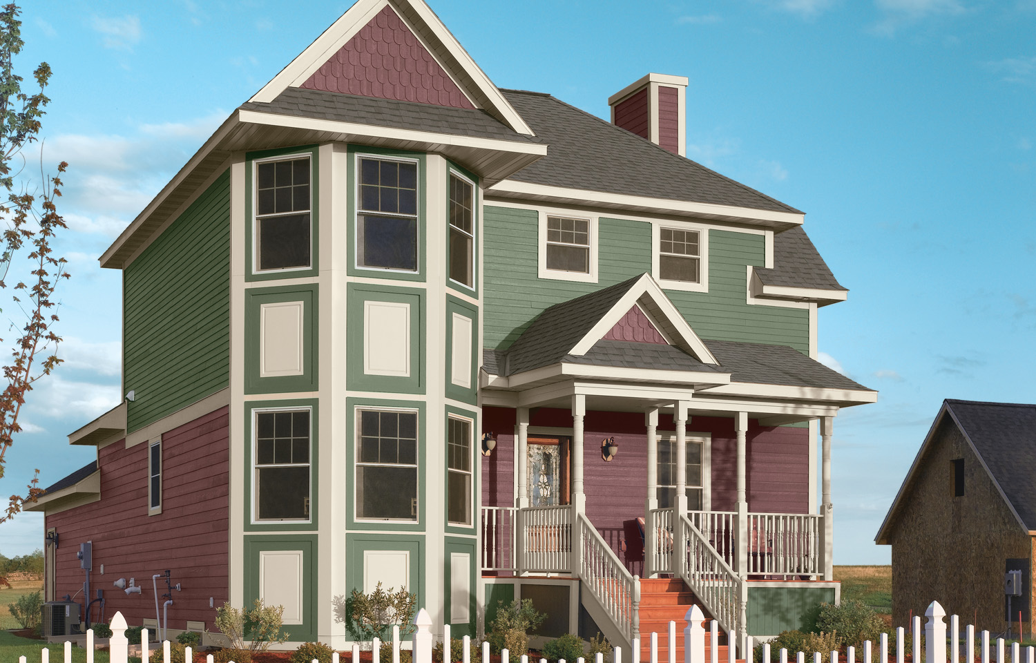 Victorians And Other Older Homes Utilize A Lot Of Decorative Siding  Features And Colors To Bring Out Their Best. This Home Uses Three Distinct  Colors, ...