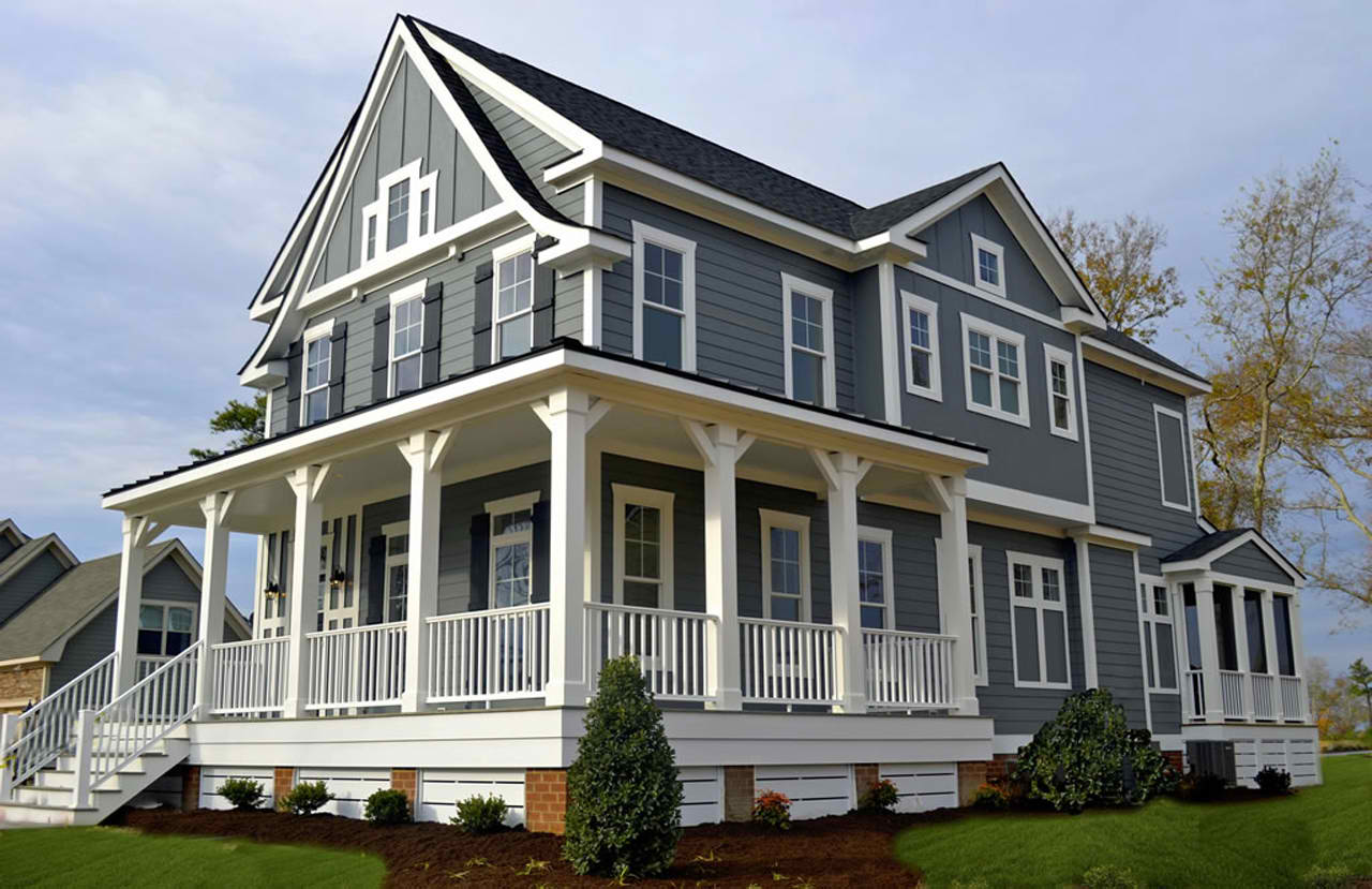 Not every home has a roofline that ends right at the second story some have an additional peak that extends upward raising the height of the home and