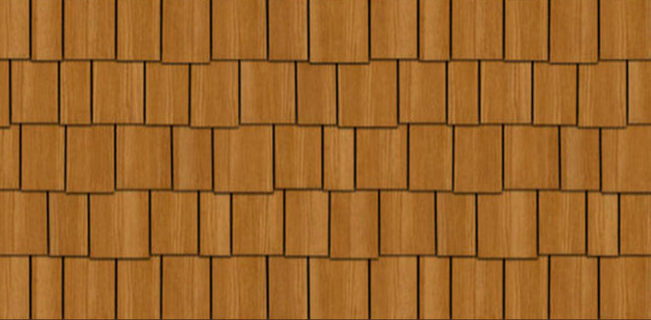 Staggered Cedar Shake Siding