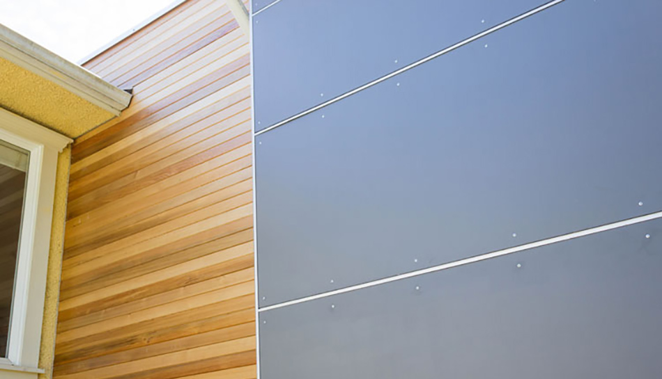 Faux cedar siding design options for Real wood siding