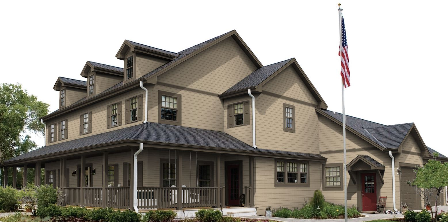 Neutral house siding