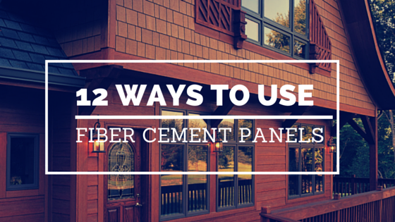 Used In Fiber Cement : Ways to use fiber cement siding panels