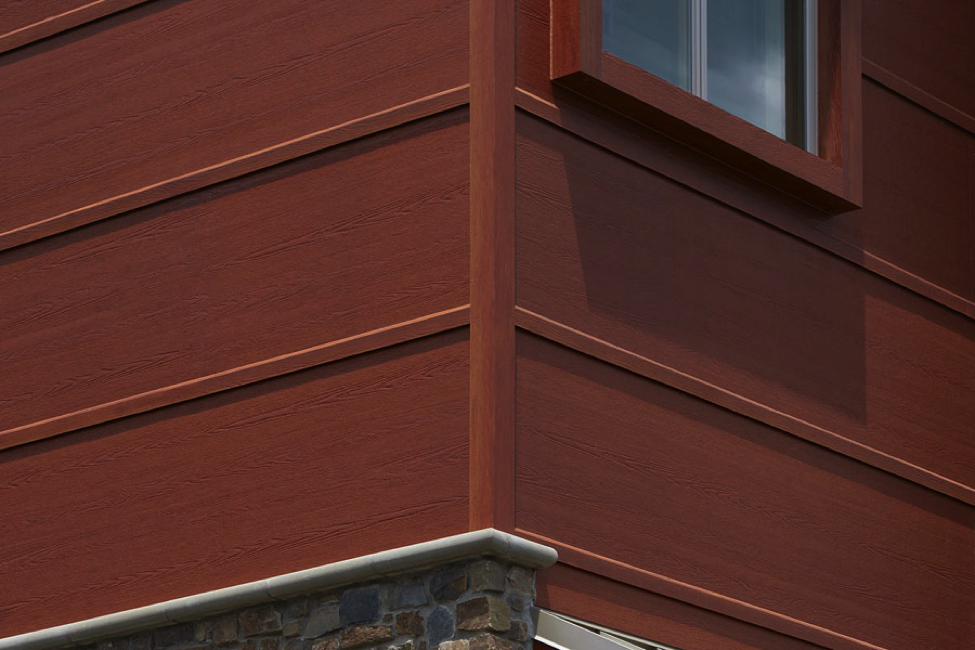 Fiber Cement Siding Isnu0027t Just Confined To Exterior Walls, Either. In This  Case, The Two Toned Siding Is Also Used On The Soffits And The Underside Of  The ...