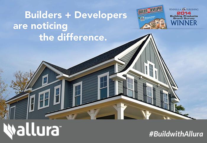 Award Winning Builders Are Choosing Allura